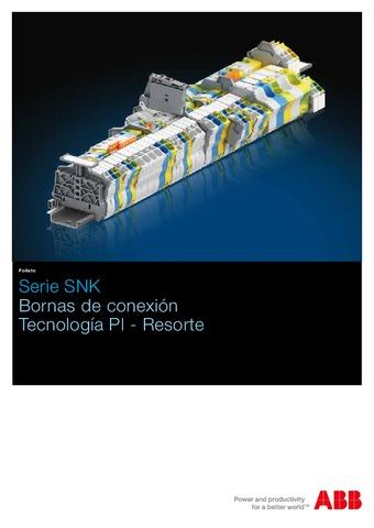ABB - Catálogo bornas de conexión serie SNK