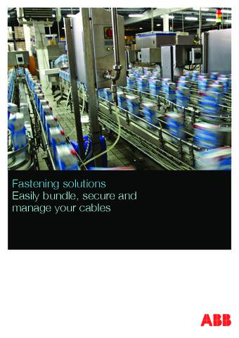 ABB - Catálogo bridas para cable de altas prestaciones