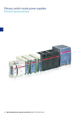 ABB - Catálogo fuentes conmutadas primarias EN