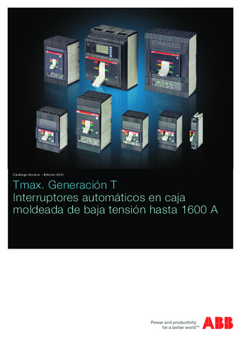 ABB - Catálogo interruptores automaticos Tmax