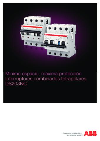 ABB - Catálogo interruptores combinados DS203NC