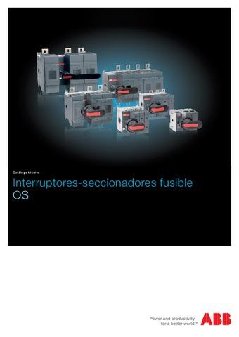 ABB - Catálogo interruptores seccionadores fusible OS