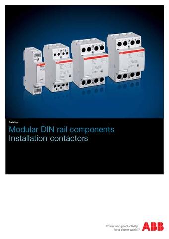 ABB - Catálogo modular DIN componentes en rail EN