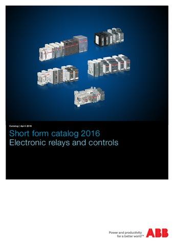 ABB - Catálogo relés electrónicos EN
