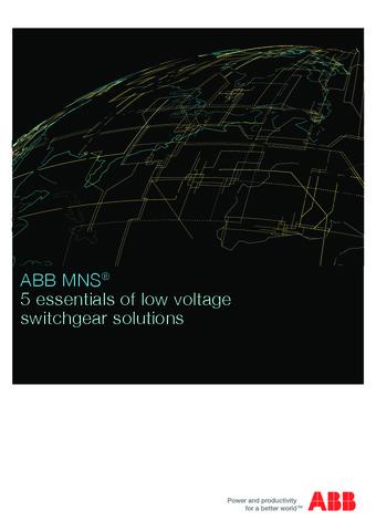 ABB - Catálogo soluciones cuadros de distribución de baja tensión MNS EN