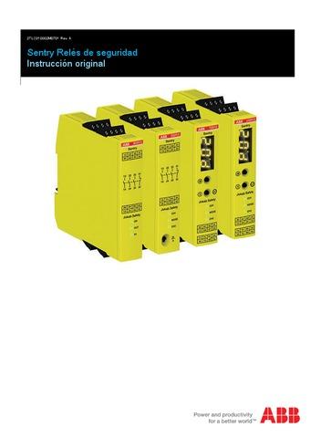 ABB - Instrucción original Sentry relés de seguridad