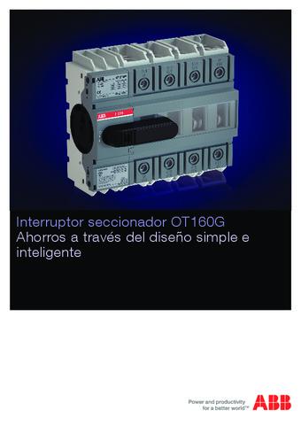 ABB - Catálogo interruptor seccionador OT160G