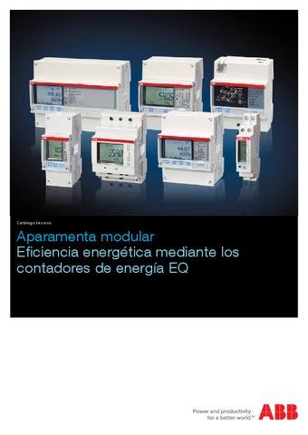 ABB aparamenta modular eficiencia energética mediante contadores de energía eq