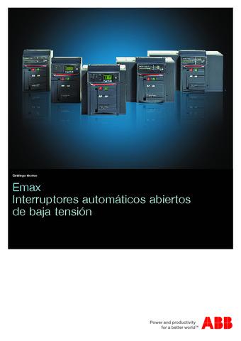ABB - Emax interruptores automáticos abiertos de baja tensión