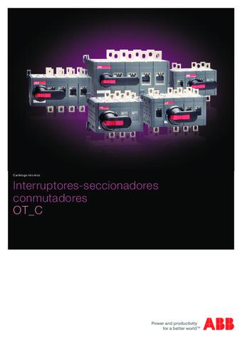 ABB - Interruptores seccionadores conmutadores ot c
