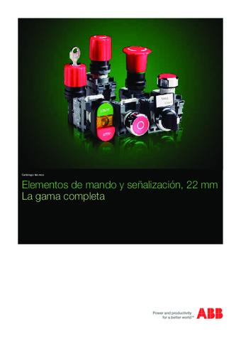 ABB - Mando y señalización 22mm gama completa