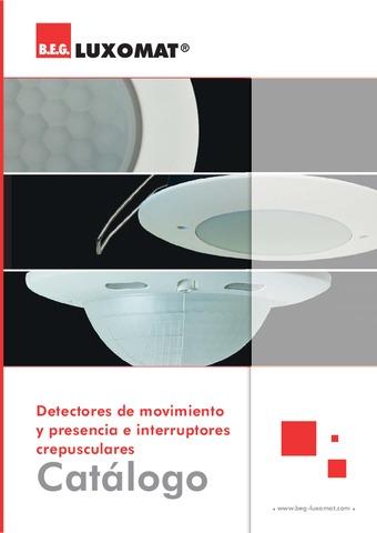 B.E.G. - Catálogo Detectores de movimiento y presencia e interruptores crepusculares
