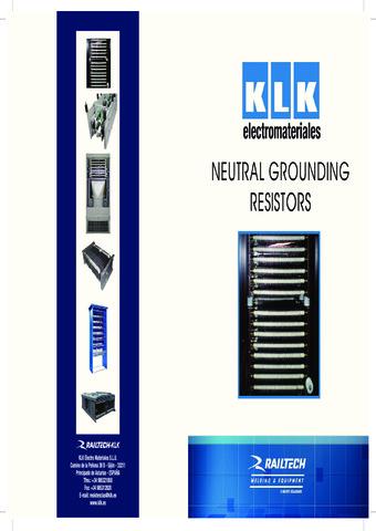 KLK - Neutral Grounding Resistors