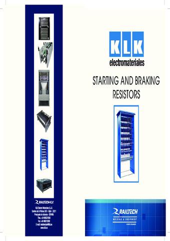 KLK - Starting and Braking Resistors