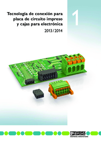Phoenix Contact - Tecnología de conexión para placa de circuito impreso y cajas para electrónica