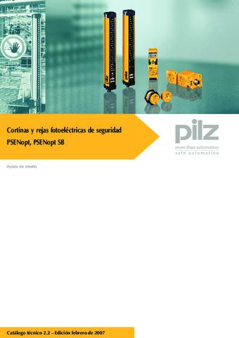 Pilz cortinas y rejas fotoeléctricas de seguridad PSENopt, PSENopt SB