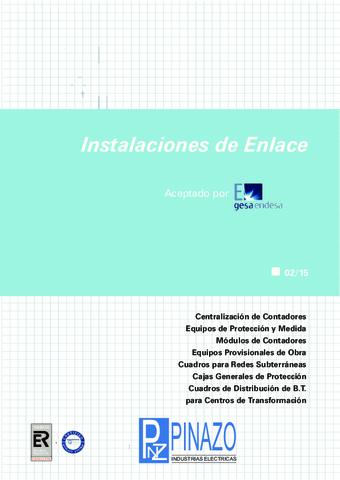 Pinazo - Catálogo instalaciones de enlace GESA ENDESA