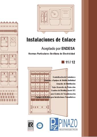 Pinazo - Catálogo instalaciones de enlace SEVILLANA ENDESA