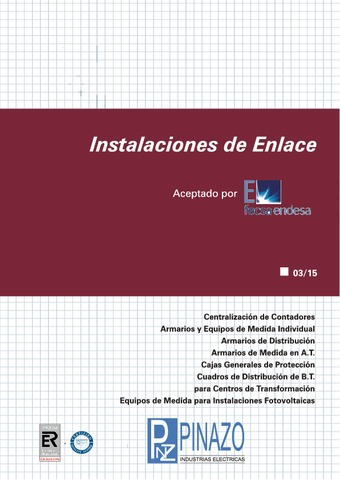 Pinazo - Catálogo instalaciones de enlace FECSA ENDESA