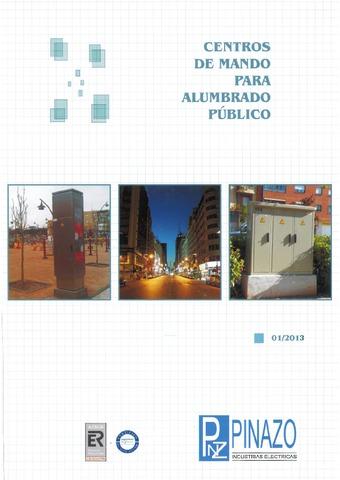 Pinazo - Catálogo centro de mando para alumbrado público