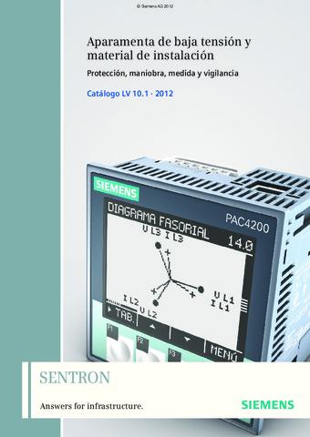 Siemens - Catálogo Técnico SENTRON