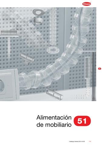 Unex - Alimentación de mobiliario 51 en U24X color gris