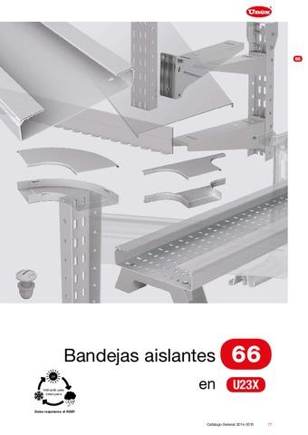 Unex - Bandeja aislante 66 en U23X