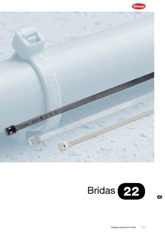 Unex - Bridas 22 en U60X color gris RAL 7035