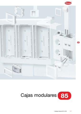 Unex - Caja modular 85 en U24X color blanco