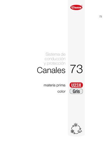 Unex - Canal 73 u23x gris ral 7035