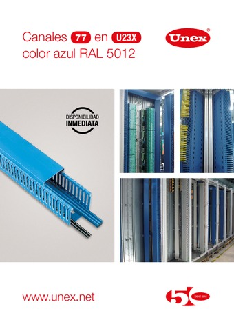 Unex - Canal 77 en U23X color azul RAL 5012