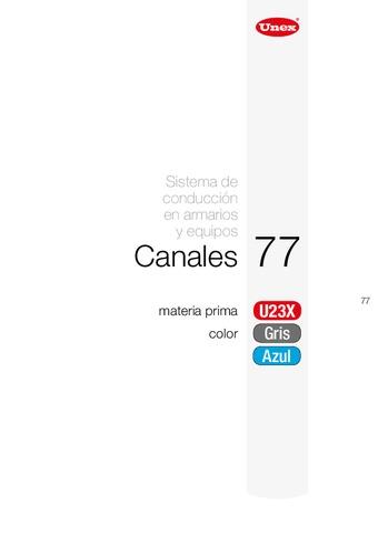 Unex - Canales 77 en u23x color azul ral5012
