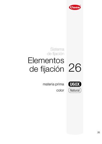 Unex - Elementos fijación 26 u60x