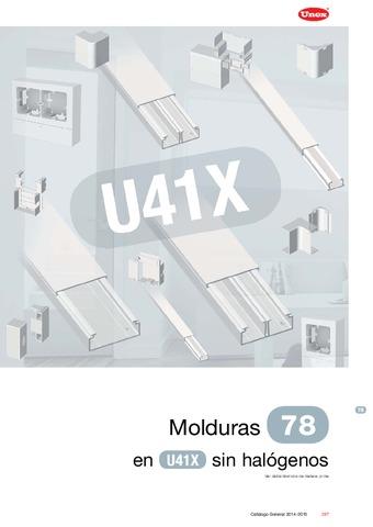 Unex - Moldura 78 en U41X sin halógenos