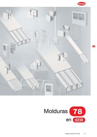 Unex - Moldura autoadhesiva 78 en U23X color blanco