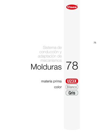 Unex - Moldura autoadhesiva 78 u23x blanco