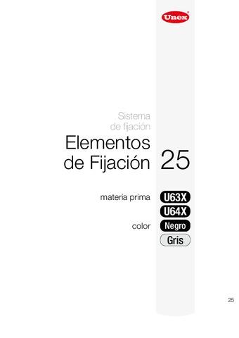 Unex - Taco a presión 25 u63x gris ral7035