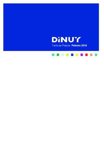 Dinuy - Tarifa Febrero 2018