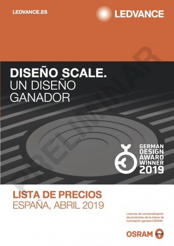 Ledvance - Tarifa Abril 2019