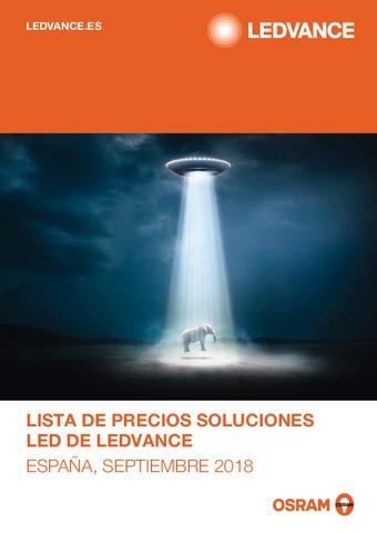 Ledvance - Tarifa soluciones LED septiembre 2018