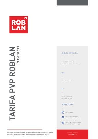 Roblan - Tarifa  Enero 2020