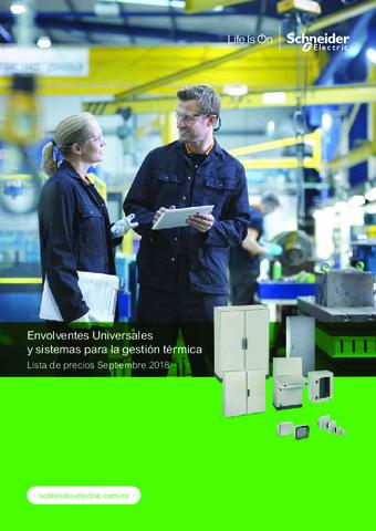 Schneider - Envolventes Universales y sistemas para la gestión térmica