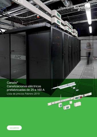 Schneider Canalis - Canalizaciones eléctricas prefabricas de 25 a 160 A