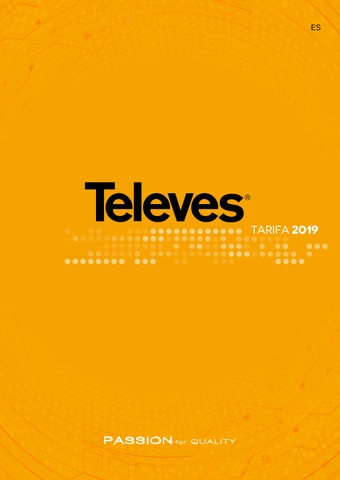 Televes  - Tarifa 2019
